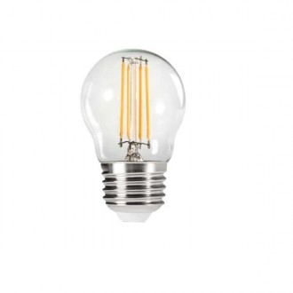 KANLUX 29625 | E27 4,5W -> 40W Kanlux kis gömb G45 LED fényforrás filament 470lm 2700K 320° CRI>80