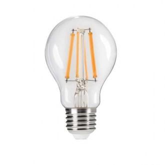KANLUX 29634 | E27 7W -> 60W Kanlux normál A60 LED fényforrás Step Dim. 810lm 2700K szabályozható fényerő impulzus kapcsoló 320° CRI>80