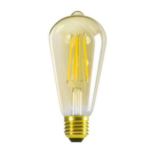 KANLUX 29637 | E27 7W -> 55W Kanlux Edison ST64 LED fényforrás filament 725lm 2500K 320° CRI>80