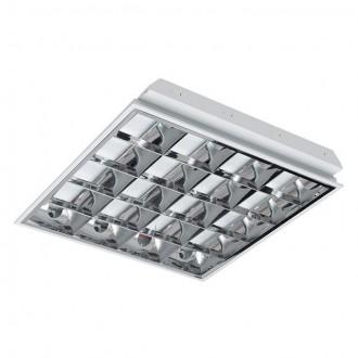 KANLUX 30004 | RSTR Kanlux álmennyezeti armatúra négyzet 4x G13 / T8 UV fehér