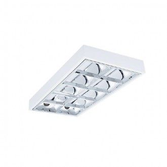 KANLUX 30176 | RSTR_LED Kanlux mennyezeti armatúra téglalap T8 LED fényforráshoz tervezve 2x G13 / T8 LED UV fehér