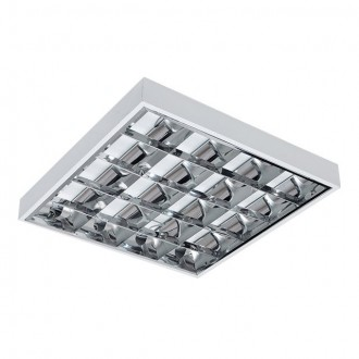 KANLUX 31057 | RSTR-LED Kanlux mennyezeti armatúra négyzet T8 LED fényforráshoz tervezve 4x G13 / T8 LED UV fehér