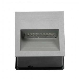 KANLUX 4684 | Lica-LED Kanlux beépíthető lámpa négyzet 135x135mm 1x LED 4000K IP65 szürke