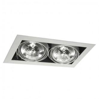 KANLUX 4961 | Mateo Kanlux beépíthető - mélysugárzó lámpa elforgatható fényforrás 195x335mm 2x G53 / AR111 szürke
