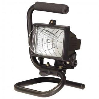 KANLUX 616 | Trap Kanlux fényvető hordozható lámpa villásdugó - kapcsoló nélkül elforgatható alkatrészek 1x R7s IP54 fekete, átlátszó