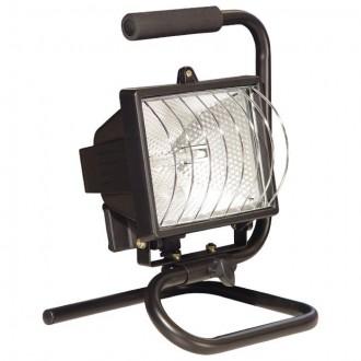 KANLUX 620 | Eliot Kanlux fényvető hordozható lámpa villásdugó - kapcsoló nélkül elforgatható alkatrészek 1x R7s IP54 fekete, átlátszó