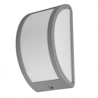 KANLUX 7011 | Shark Kanlux fali, mennyezeti lámpa 1x E27 IP44 IK10 UV szürke, fehér