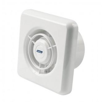 KANLUX 70905 | Kanlux csőventilátor Ø100 100m3/h négyzet zsaluzat nélkül, hőbiztosíték IP24 fehér