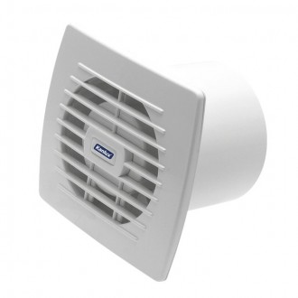 KANLUX 70910 | Kanlux csőventilátor Ø100 100m3/h téglalap húzókapcsoló zsaluzat nélkül, hőbiztosíték IP24 UV fehér