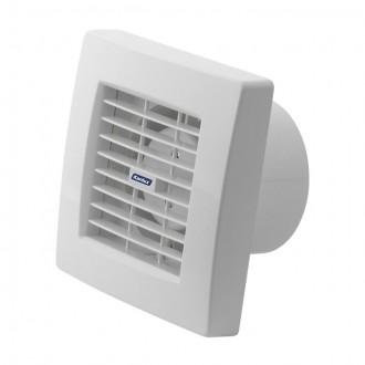 KANLUX 70925 | Kanlux csőventilátor Ø100 100m3/h négyzet húzókapcsoló automata zsaluval, hőbiztosíték IP24 UV fehér