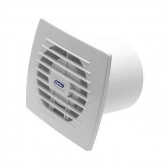KANLUX 70936 | Kanlux csőventilátor Ø100 100m3/h téglalap páraérzékelő, időkapcsoló zsaluzat nélkül, hőbiztosíték IP24 UV fehér