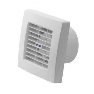 KANLUX 70953 | Kanlux csőventilátor Ø100 100m3/h négyzet időkapcsoló automata zsaluval, hőbiztosíték IP24 UV fehér