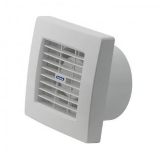 KANLUX 70958 | Kanlux csőventilátor Ø120 200m3/h négyzet páraérzékelő, időkapcsoló automata zsaluval, hőbiztosíték IP24 UV fehér