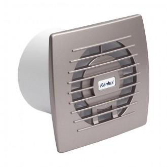 KANLUX 70973 | Kanlux csőventilátor Ø100 100m3/h téglalap zsaluzat nélkül, hőbiztosíték IP24 UV ezüst
