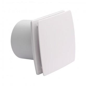 KANLUX 70975 | Kanlux csőventilátor Ø99 100m3/h téglalap zárt előlapos, hőbiztosíték IP24 UV fehér