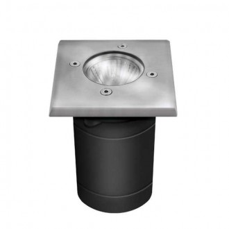 KANLUX 7171 | Berg Kanlux beépíthető lámpa négyzet 1x GU10 IP67 IK08 matt króm