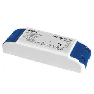 KANLUX 7301 | Kanlux LED tápegység 700mA DC 5-8x 3W 15-36V téglalap hőbiztosíték fehér, kék