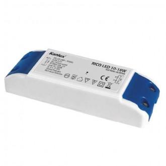KANLUX 7302 | Kanlux LED tápegység 350mA DC 10-18x 1W 30-72V téglalap hőbiztosíték fehér, kék
