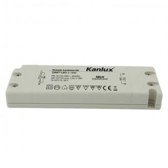 KANLUX 8550 | Kanlux LED tápegység 12V DC 3-18W 1,5A téglalap fehér