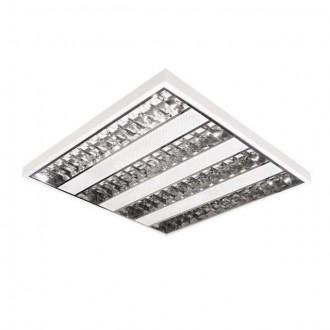 KANLUX 8602 | Xedos Kanlux mennyezeti armatúra négyzet 4x G5 / T5 fehér