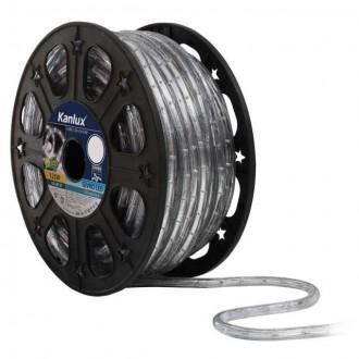 KANLUX 8630 | Givro Kanlux fénytömlő hideg fehér fénykábel - 50 m 25x LED IP44 fehér
