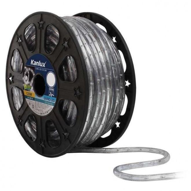 KANLUX 8630   Givro Kanlux fénytömlő hideg fehér fénykábel - 50 m 25x LED IP44 fehér