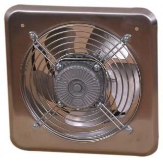KANLUX C200 | Kanlux ipari ventilátor Ø210 470m3/h négyzet IP24 UV inox