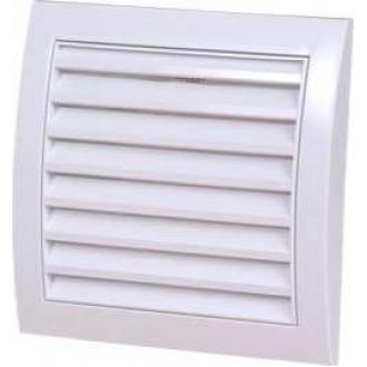 KANLUX ND10 | Kanlux szellőzőrács Ø100 csőventilátorhoz téglalap rovarháló UV fehér