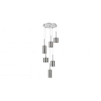 LAMPADORO 81014 | Adriana_LD Lampadoro függeszték lámpa 6x E14 króm, füst