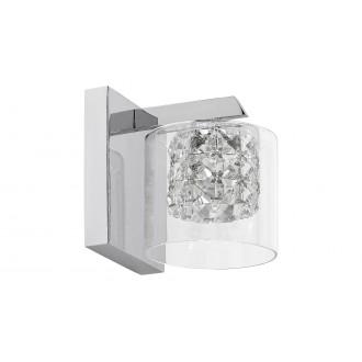 LAMPADORO 81015 | Diamante_LD Lampadoro falikar lámpa 1x G9 króm, átlátszó, kristály