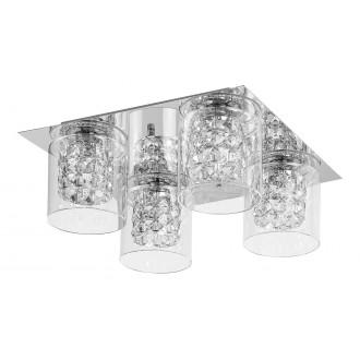 LAMPADORO 81019 | Diamante_LD Lampadoro mennyezeti lámpa 4x G9 króm, átlátszó, kristály