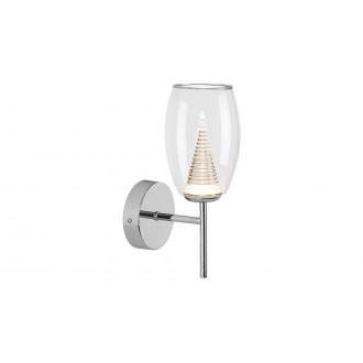 LAMPADORO 81021 | Fiorella Lampadoro falikar lámpa 1x LED 400lm 3000K króm, átlátszó