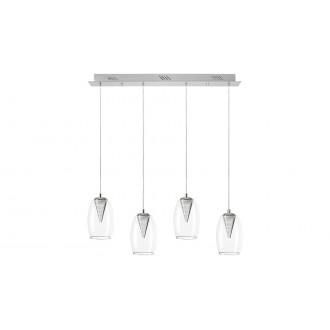 LAMPADORO 81023 | Fiorella Lampadoro függeszték lámpa 1x LED 1600lm 3000K króm, átlátszó