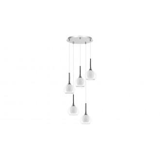LAMPADORO 81028 | Carmelina Lampadoro függeszték lámpa 5x E14 króm, átlátszó, opál
