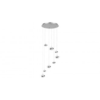 LAMPADORO 81074 | Angelo Lampadoro függeszték lámpa 1x LED 3900lm 3300K króm, kristály hatás