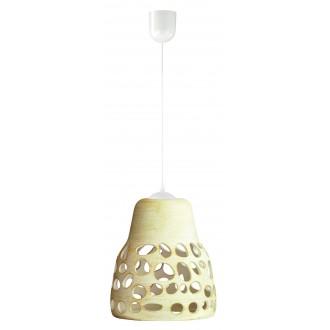 LAMPEX 002/1 KRE | Wiszaca Lampex függeszték lámpa 1x E27 krémszín