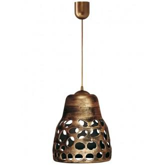 LAMPEX 002/1 ZLO | Wiszaca Lampex függeszték lámpa 1x E27 antikolt arany