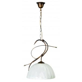 LAMPEX 004/1 C+M | Wiszaca Lampex függeszték lámpa 1x E27 patina, csillogó fehér