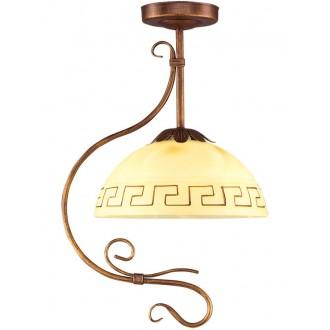 LAMPEX 008/1 B+M | Greka Lampex függeszték lámpa 1x E27 antikolt barna, bézs