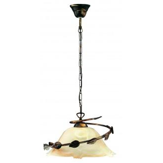 LAMPEX 010/1 C+M | Lampex-Pendant Lampex függeszték lámpa 1x E27 patina, bézs
