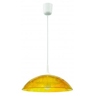 LAMPEX 012/A | Lampex-Pendant Lampex függeszték lámpa 1x E27 fehér, sárga