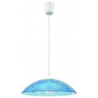 LAMPEX 012/B | Lampex-Pendant Lampex függeszték lámpa 1x E27 fehér, kék