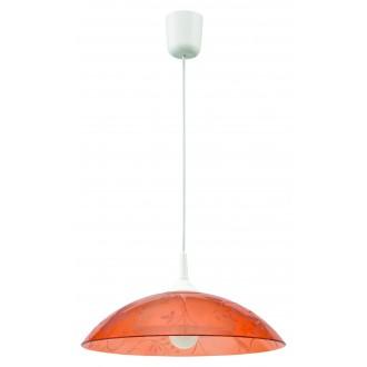 LAMPEX 012/C | Lampex-Pendant Lampex függeszték lámpa 1x E27 fehér, narancs