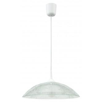LAMPEX 012/D | Lampex-Pendant Lampex függeszték lámpa 1x E27 fehér, átlátszó