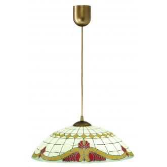 LAMPEX 013/C | Lampex-Pendant Lampex függeszték lámpa 1x E27 patina, krémszín, piros
