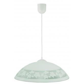 LAMPEX 013/D | Lampex-Pendant Lampex függeszték lámpa 1x E27 fehér, szürke