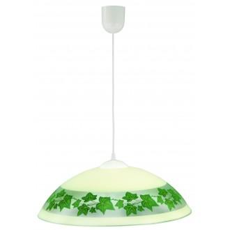 LAMPEX 013/E | Lampex-Pendant Lampex függeszték lámpa 1x E27 fehér, krémszín, zöld
