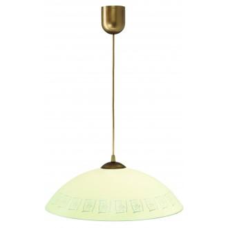 LAMPEX 013/F | Lampex-Pendant Lampex függeszték lámpa 1x E27 patina, krémszín