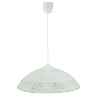 LAMPEX 013/G | Lampex-Pendant Lampex függeszték lámpa 1x E27 fehér, szürke