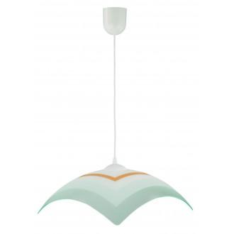 LAMPEX 013/J | Lampex-Pendant Lampex függeszték lámpa 1x E27 fehér, szürke, narancs